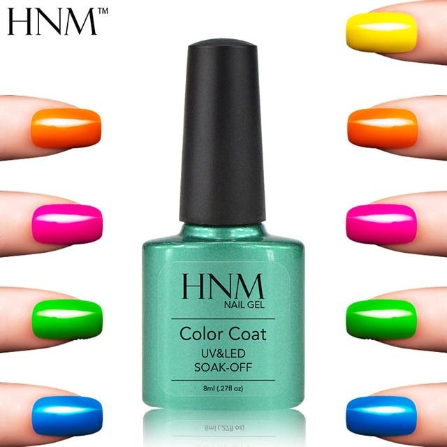 Hnm 79 Colors Uv Gel Nails Polish Long Lasting Nail 8ml Soak Off