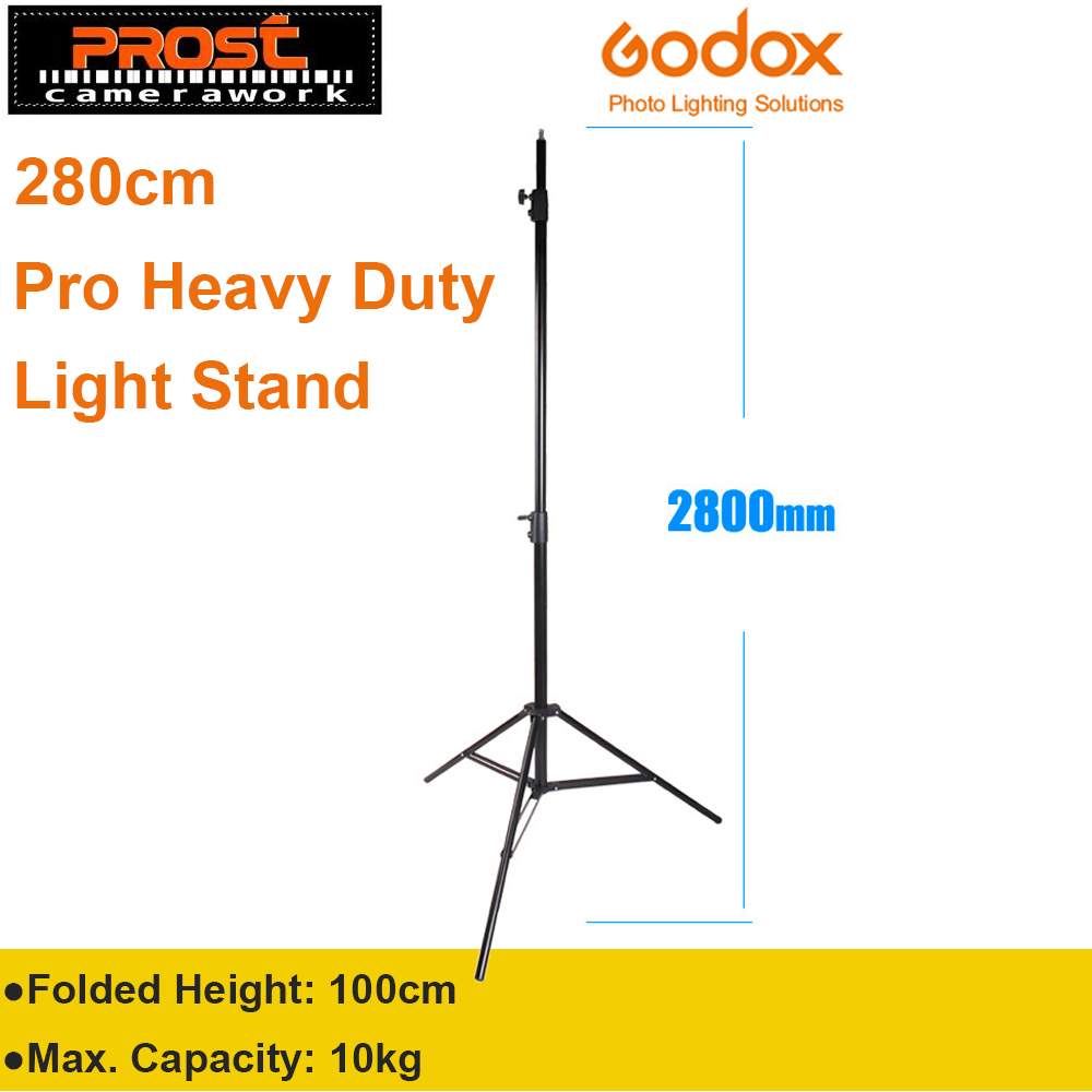 Godox 280cm 2.8m 9FT Pro Heavy Duty Light Stand for Fresnel Tungsten Light TV Station Studio Photo Studio Tripods