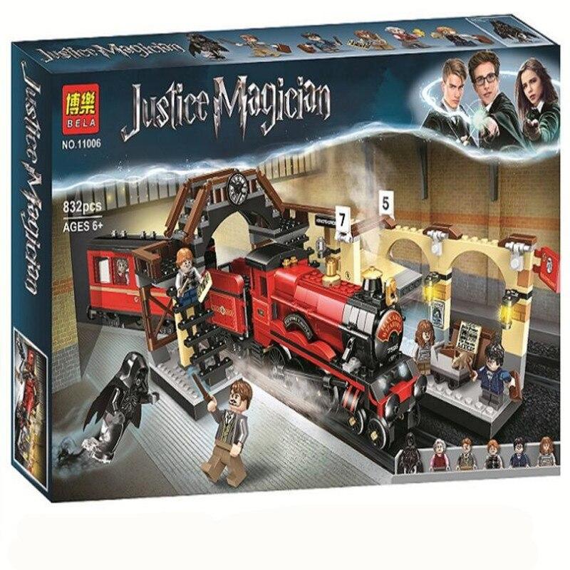 Harry's School Potter Hogwarts Castle Bela 11006 Express Set compatible Legoing Train Building Blocks Toys Kids Christmas Gift