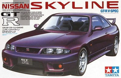 Tamiya 24145 modelo de automóvel 1/24 Nissan Skyline GTR carros Kit de GT-RV-SPEC