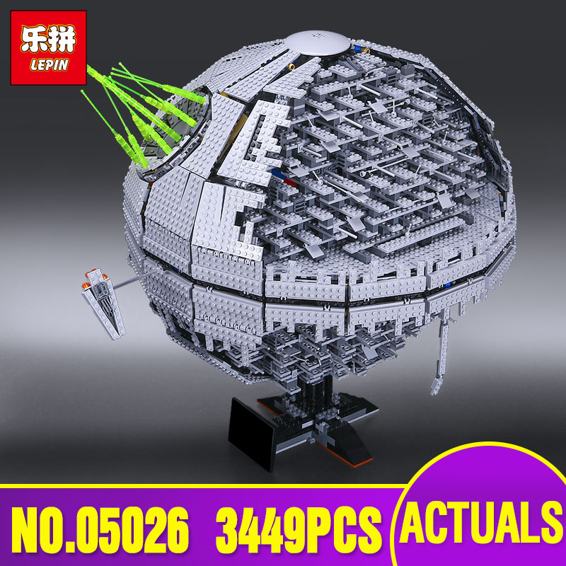 LEPIN 05026 Star series Wars Death The second generation 3449pcs Building Block Bricks Star Toys Compatible with  10143 Gifts in stock lepin 05035 3803pcs genuine star wars death star educational building block bricks toys kits compatible with j35000