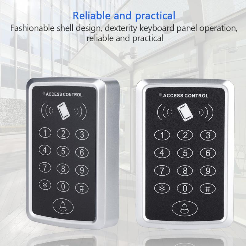 T119 125KHz Door Access Controller RFID Reader Access Control Keypad Digital Panel Card Reader Home Security Door Lock System waterproof card reader 125khz rfid card reader door access control system for home security for home security f1705h