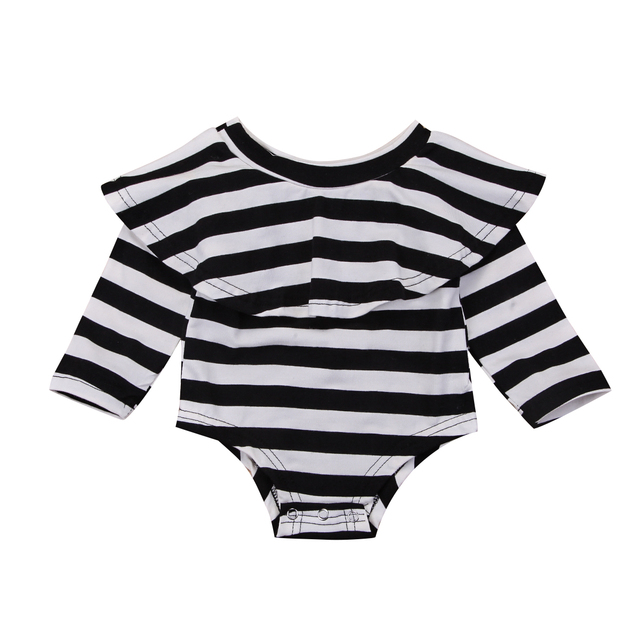 b74742fc3690 Newborn Kid Baby Girls Clothing Long Sleeve Cotton Off Shoulder Romper  Jumpsuit Outfits Clothes