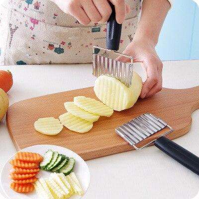 1 Pc Vegetable wave chopper Cutter Knife Potato wave Slicer