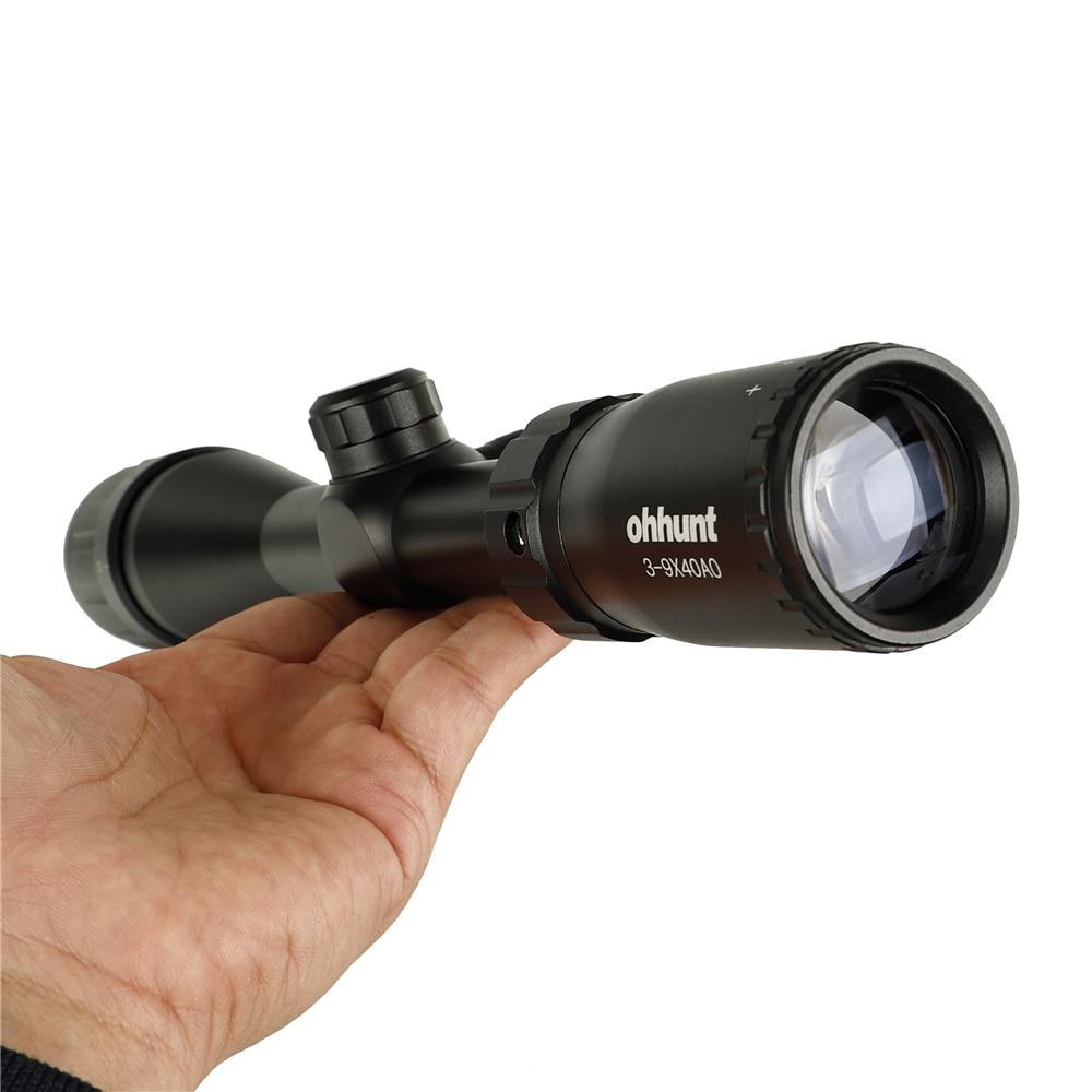 ohhunt 3-9X40 AO Hunting Riflescopes 1 inch Tube Mil Dot Reticle Optical Sight Rifle Scope (9)