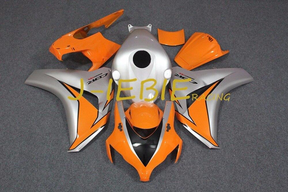 Silver Injection Fairing Body Work Frame Kit for HONDA CBR1000RR CBR 1000 CBR1000 RR 2008 2009 2010 2011
