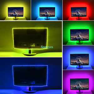 Image 5 - SMD 5050 RGB LED Strip DC 5V USB LED Light Strip Flexible IP20 IP65 Waterproof Tape 1m 2m 3m 4m 5m add Remote For TV Background