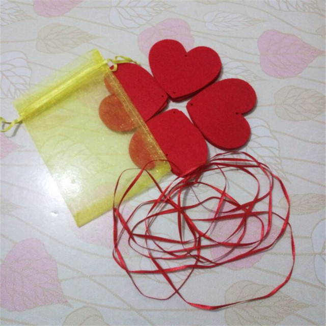 Heart Shape Wall Hanging Paper Garlands String Chain Banner Handmade Room  Door Home Decoration Wish A