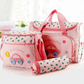 4 PCS/Set Fashion Multifunctional baby diaper bag baby nappies bag mummy maternity bag ladies messenger bag 5 Models