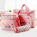 4 unids/set moda multifuncional pañal del bebé del bolso del bebé pañales bolsa maternidad momia bolso ladies messenger bag 5 modelos
