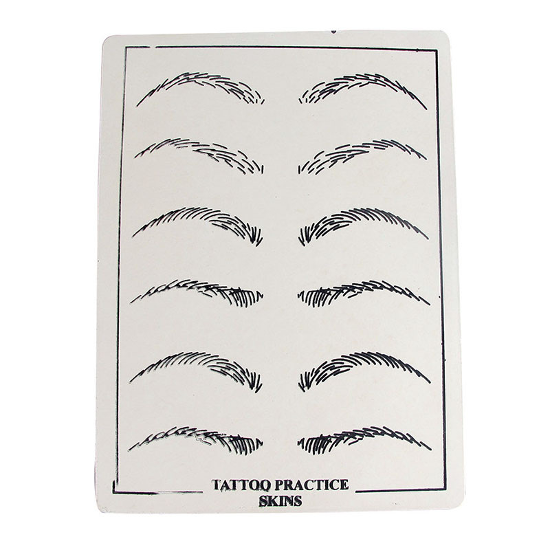 dbcfc1cef4 10pcs lot Eyebrows Tattoo Practice Skins Synthetic Permanent Training  Tattoo Accesories for Beginners