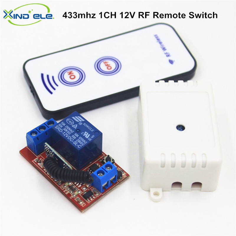 12v 1ch Rf Wireless Remote Control Light Door Switch: 433.92mhz Universal Remote Control Switch DC 12V 10A 1CH
