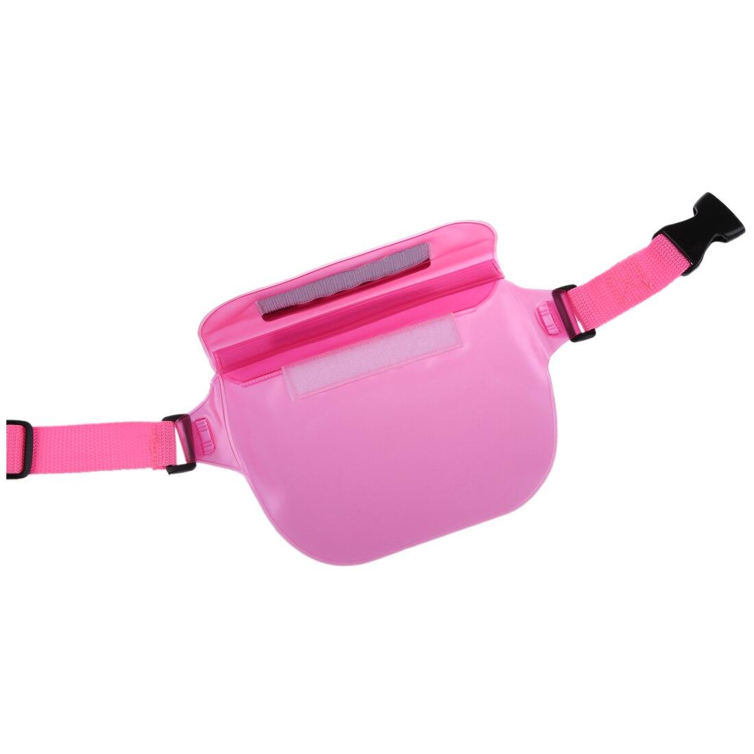 2X Waterproof Bag Rafting Waist Packs for Phone Wallet Purse Compact Camera(pink)