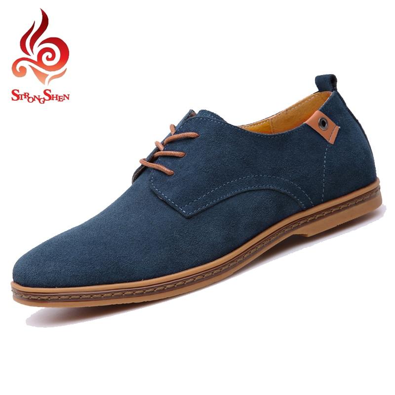 Big Size 38 47 Shoes Men 2017 Men shoes Fashion Suede ...