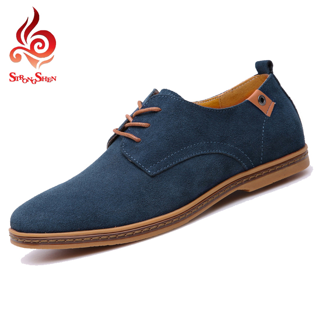 9d62774ee96c24 Big Size 38-47 Shoes Men 2017 Men shoes Fashion Suede Leather shoes Men  Casual