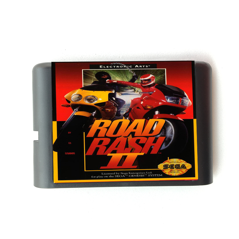 Road Rash II 16 bit Sega MD Game Card for Mega Drive for Genesis