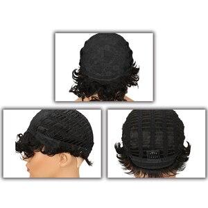 Image 5 - 洗練されたブラジル生意気カール黒人女性のための人間のかつら色かつら