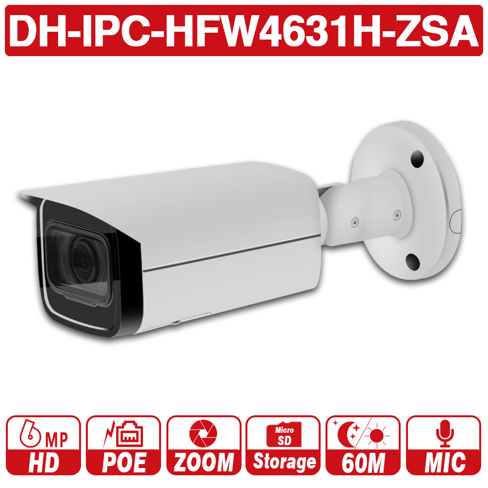 DH with logo IPC HFW4631H ZSA 6MP IP Camera Upgrade from IPC HFW4431R Z Build In