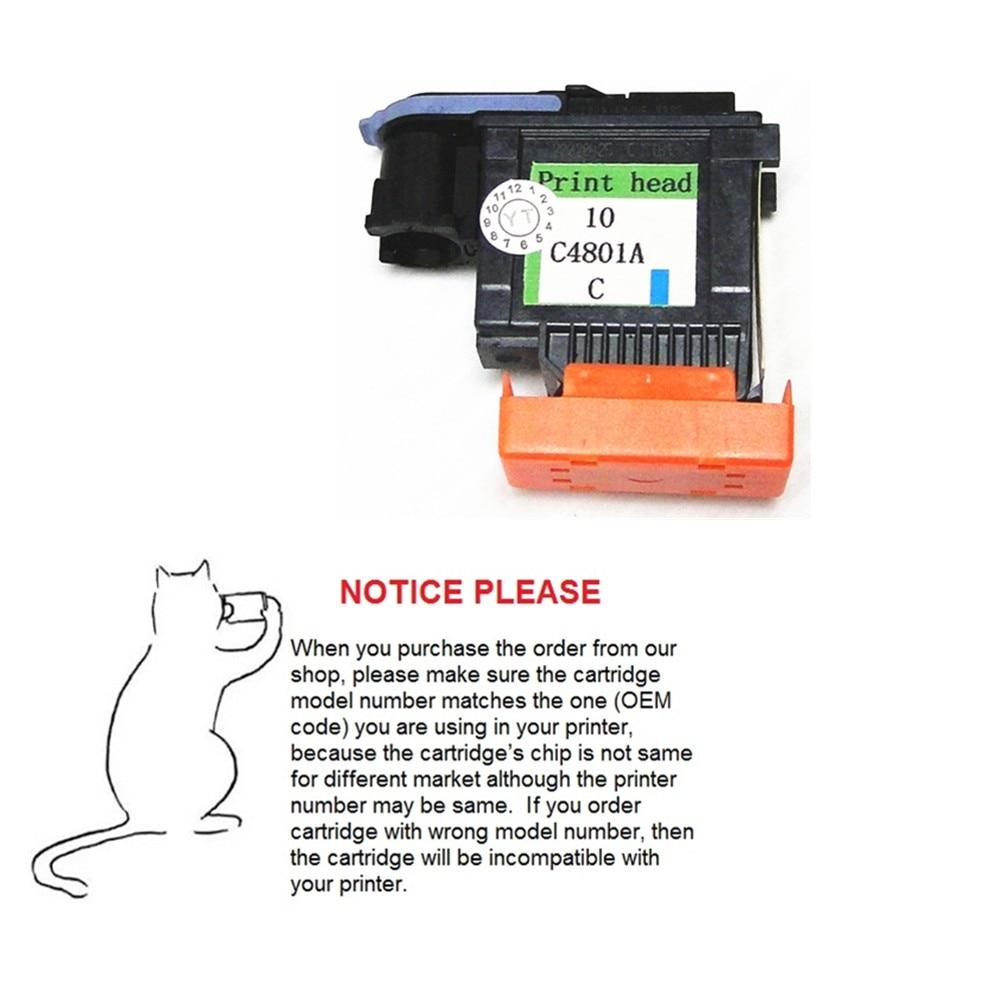 YOTAT 1шт Cyan 10 Printhead C4801A для HP 10 HP10 - Офісна електроніка