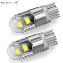 Современный автомобиль 1 шт. T10 W5W 194 3030 3SMD габаритный фонарь лампы Подсветка салона автомобиля Стайлинг Универсальный 6000K белый светодиодный автомобильный Светильник лампы