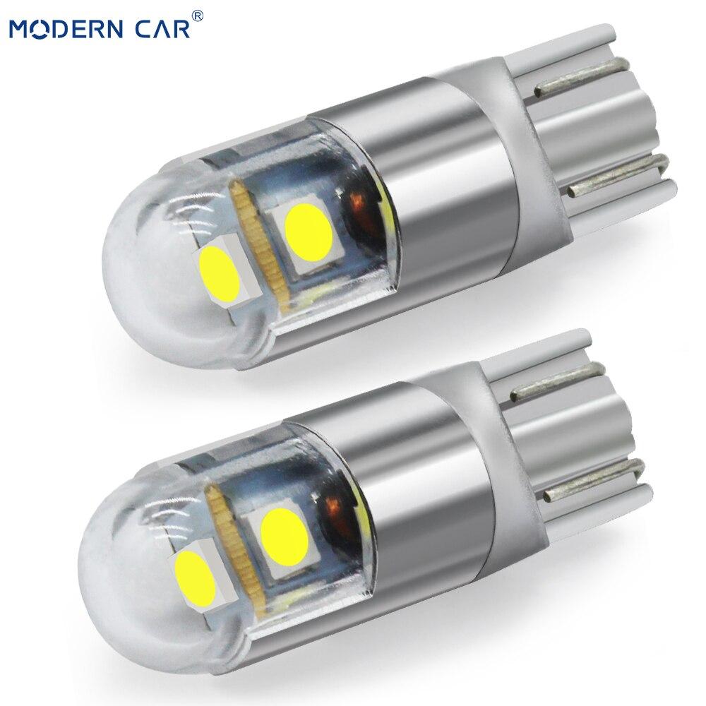 Carro moderno 1 pçs t10 w5w 194 3030 3smd lâmpada de apuramento interior luzes estilo do carro universal 6000 k branco conduziu a luz do carro lâmpadas