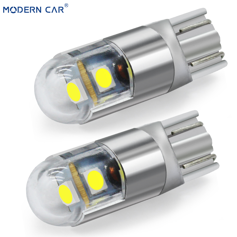 MODERN CAR 1pcs T10 W5W 194 3030 3SMD Clearance Lamp Bulb Interior Lights Car Styling Universal 6000K White LED Car Light Bulbs