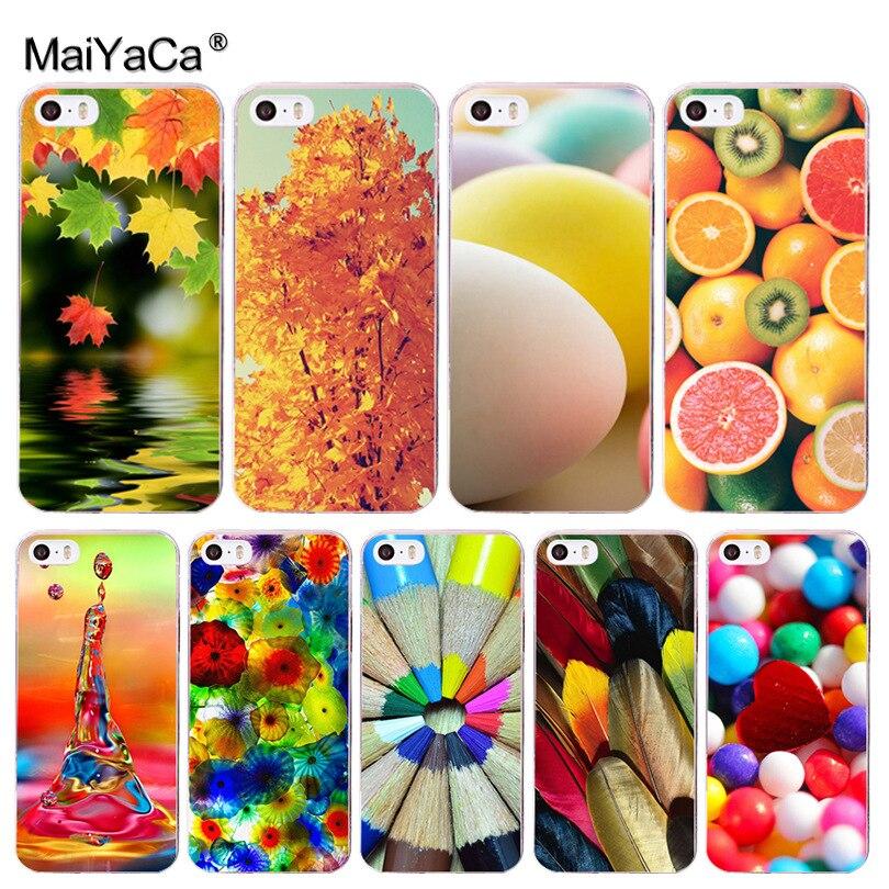 Maiyaca Цветной мира Хит продаж дизайн моды кожа тонкий ПК сотовый Чехол для Apple IPhone 8 7 6 6 S плюс X 5 5S SE 5C 4 4S крышка