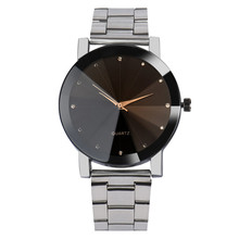 Relogio Feminino Relogio Masculino Unisex Fashion Man Women Crystal Stainless Steel Brand Analog Quartz Wrist Watch Bracelet