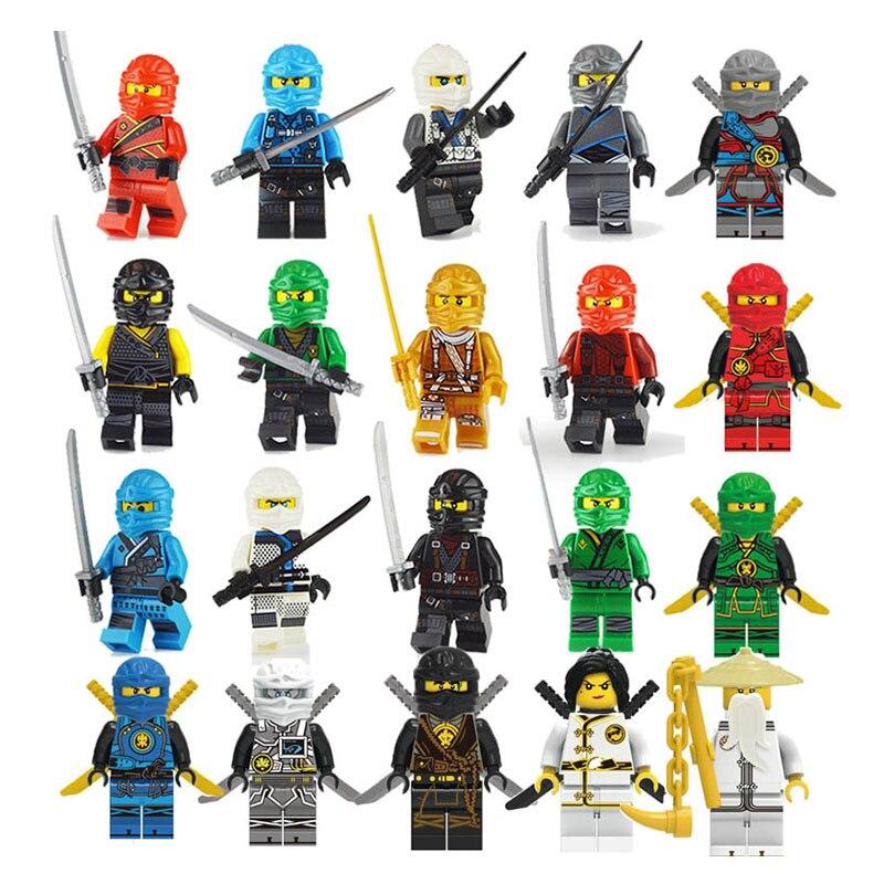 Compatible LegoINGLY NinjagoING Mini Blocs Jay Lloyd Skylor Zane Pythor Chen Maître Wu Blocs de Construction Jouets pour Enfants