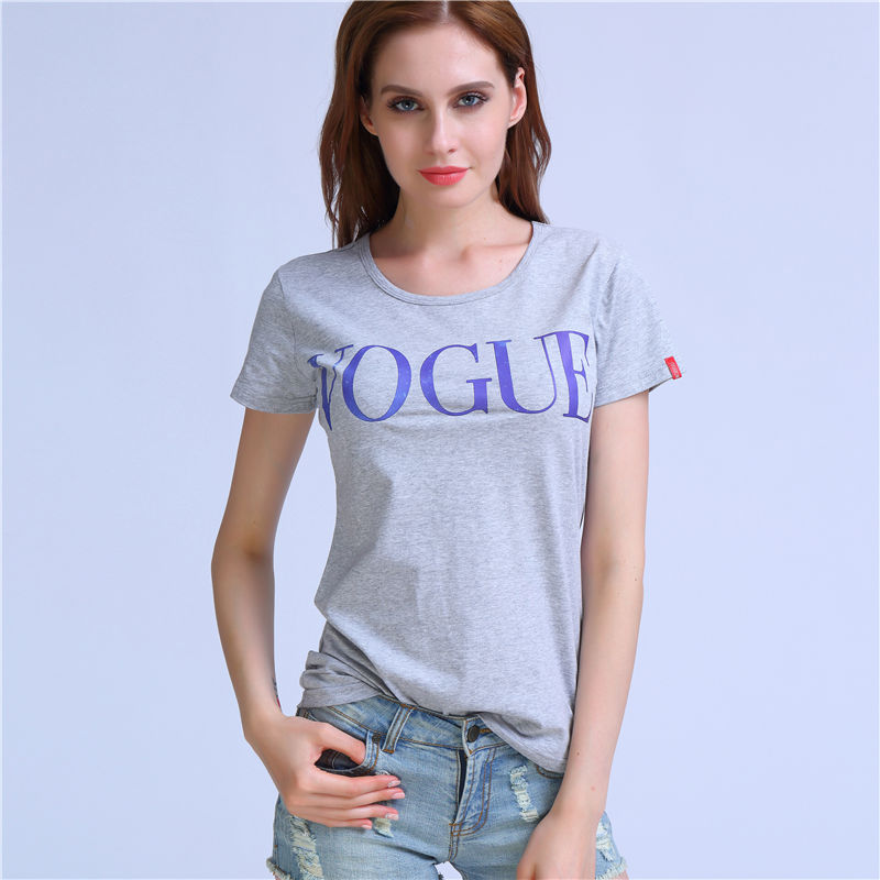 Fashion Starry Sky Vogue T-shirt Wome Gray Cotton Cusual T Shirts O-Neck Short Sleeve Summer Tops Tees Plus size