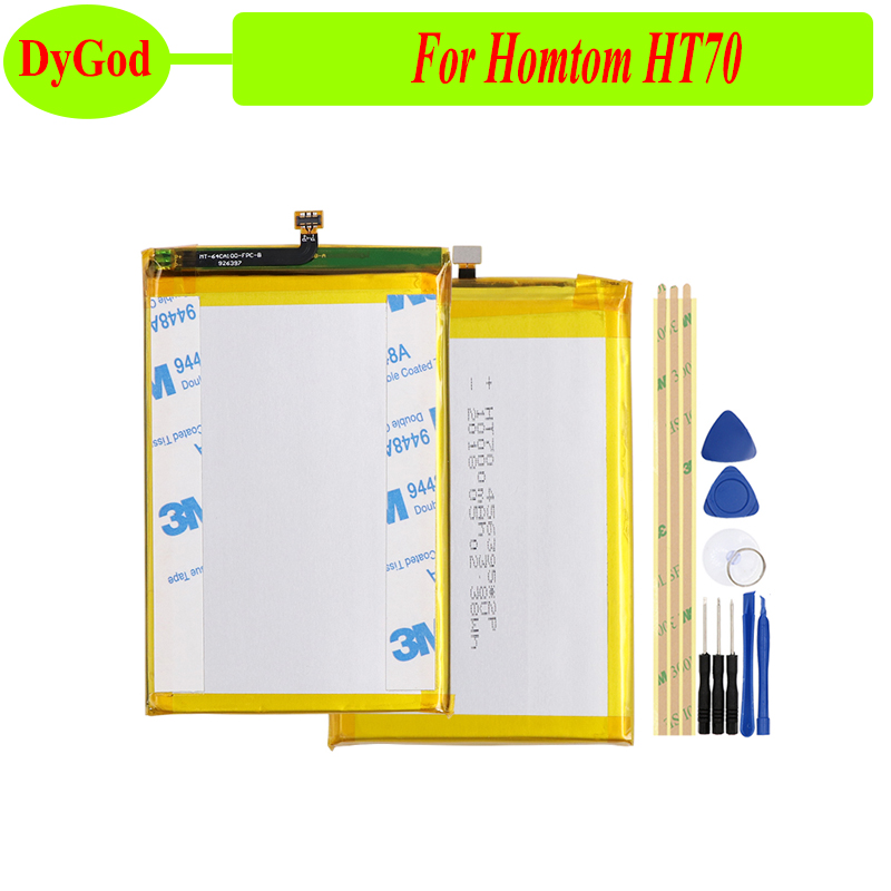 DyGod For Homtom HT70 Battery 10000mAh High capacity Replacement for Homtom HT70 Mobile Accessories+tools(China)