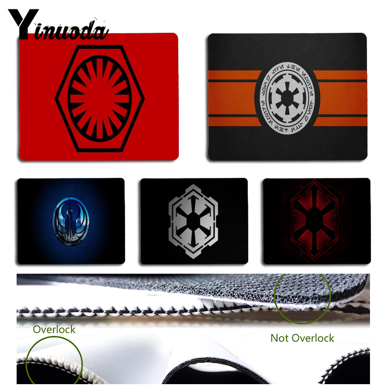 Yinuoda StarWars logo Customized laptop Gaming mouse pad Size for 18x22x0.2cm Gaming Mousepads image