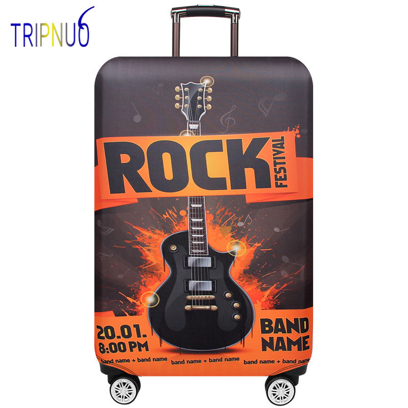 TRIPNUO Rock Elastic Luggage Protective Cover For 19-32inch Trolley Suitcase Protect Dust Bag Case Cartoon Travel Accessories
