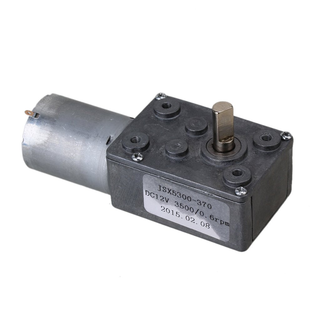 DC 12V 0.6RPM Square Low Speed High Torque Turbo Worm Geared Motor Right Angle Gear Motor 100w dc 12v 60rpm geared motor worm gear motor large torque high power high speed