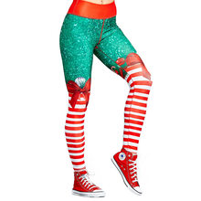 2019 Hip Leggings Sportswear for Women Slim Sexy Legging Female Pants Fitted Plus Size Christmas Cloth Women Christmas Pants(China)