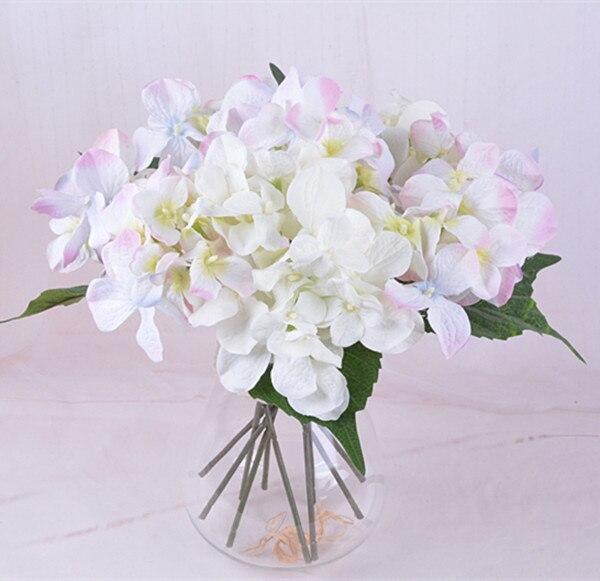 F015 Silk flower wedding bouquet Artificial 5 colors Hydrangea ...