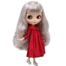 ICY Neo Blythe Doll Purple Silver Hair Jointed Body 30cm