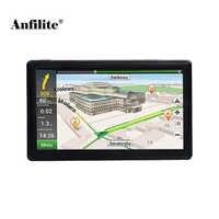 Anfilite, envío gratis, pantalla capacitiva de 7 pulgadas, 800x480, 128M, 4GB, navegador gps para camión, FM, Windows, CE, 6,0, navegación GPS para vehículo