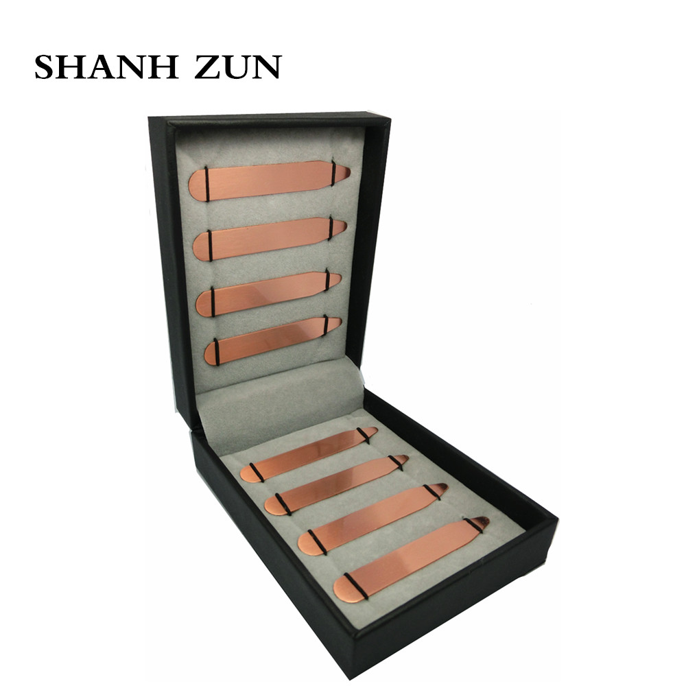Shanh Zun Mens Copper Collar Stays Metal Collar Stays Bones