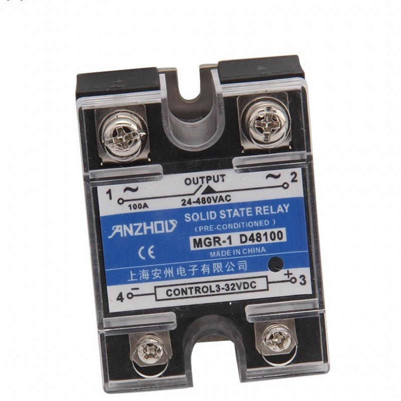 Solid State Relay Single-phase D48100 MGR 1 DC Control AC SSR-100AA
