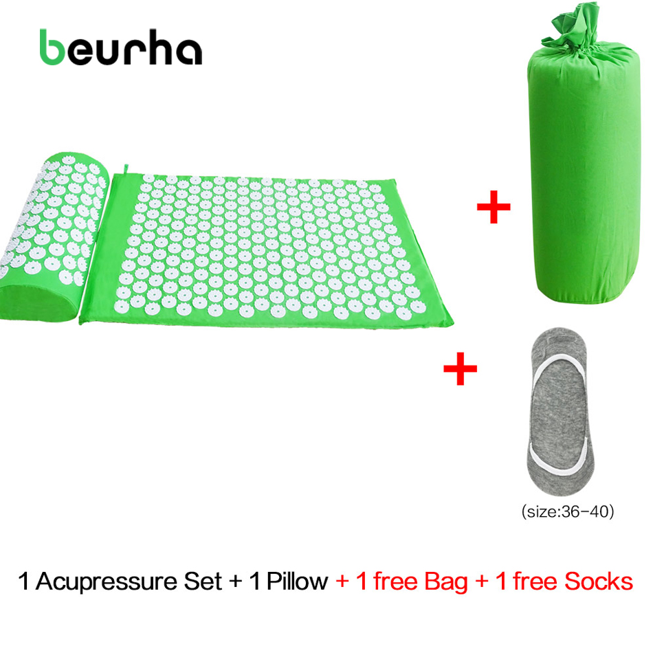 Beurha Acupressure Mat And Pillow Set Massage Mat For Natural Relief of Stress Pain Tension Body Head Back Foot Massage Cushion mohd mazid and taqi ahmed khan interaction between auxin and vigna radiata l under cadmium stress
