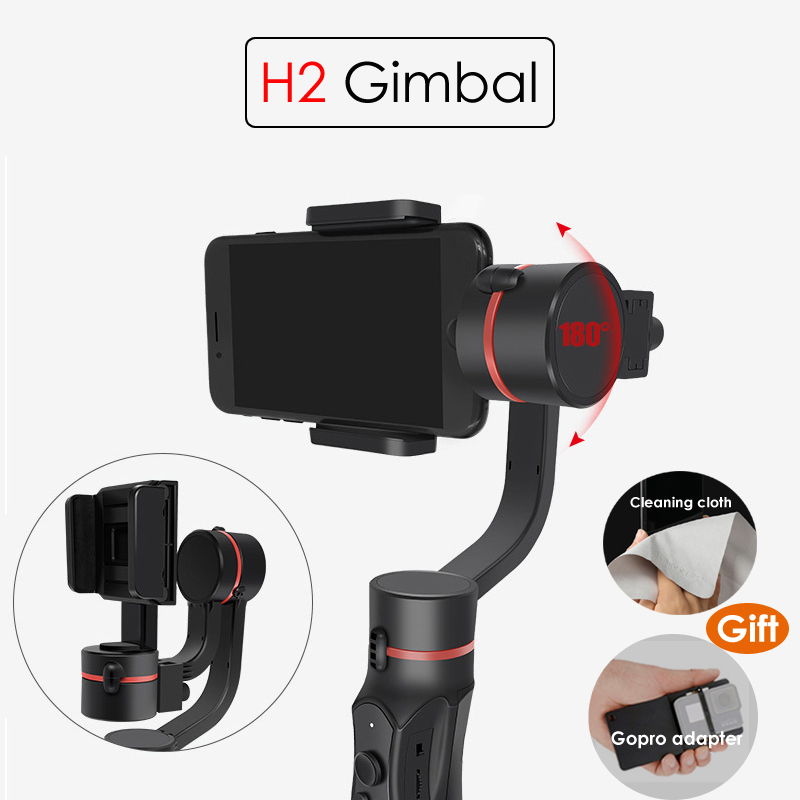 H2 3-Axis Handheld Gimbal Smartphone Stabilizer Steadicam for iPhone X 8 Plus 8 7 Plus 7 6S For Samsung for Gopro Action CameraH2 3-Axis Handheld Gimbal Smartphone Stabilizer Steadicam for iPhone X 8 Plus 8 7 Plus 7 6S For Samsung for Gopro Action Camera