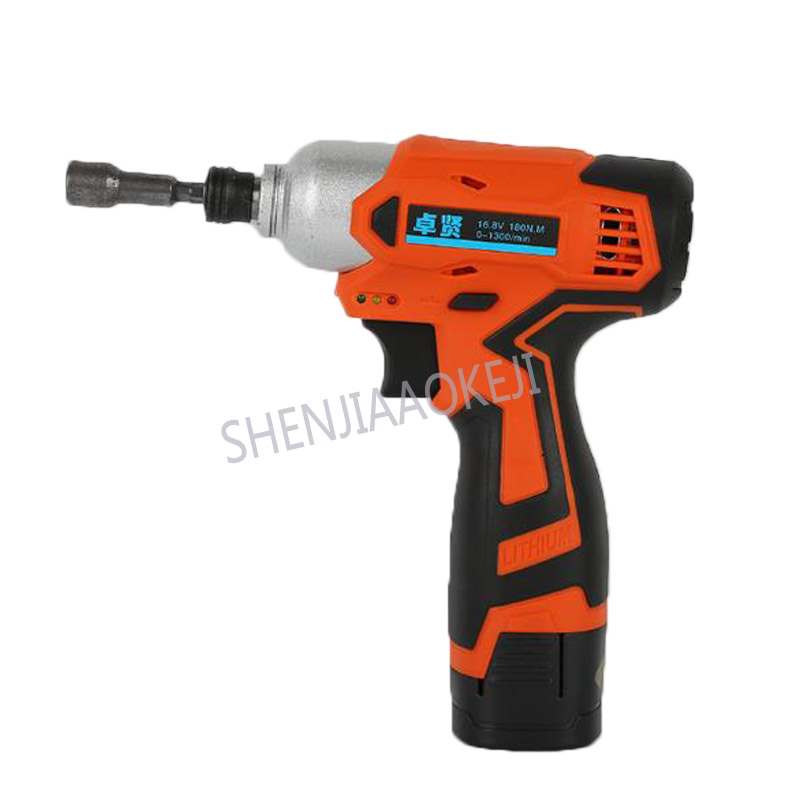 16.8v-3 rechargeable impact driver Lithium battery impact screwdriver 0-1300/min Household impact drill electric drill 180N.M