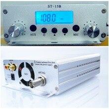 15 Вт 12 В 5А 86 МГц-108 МГц FM передатчик стерео PLL fm радио вещательная станция ST-15B
