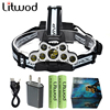 Z20 Litwod Super Bright Led Headlamp 9 Leds XML T6 LED Headlight Usb Rechargeable Head Lamp