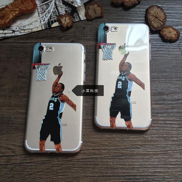 Spurs Kawhi Leonard Dunk cover for iphone 7 7 plus 6 6s 5 5s se 6splus high quality Transparent Case