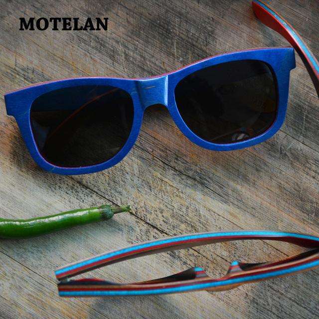 Estilo do verão artesanal óculos de sol de madeira do skate do vintage clássico das mulheres dos homens polarizados óculos de sol de madeira óculos únicas feitas à mão