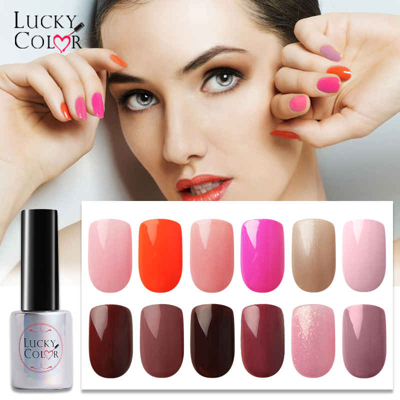 Nude Color Gel Varnish For Brown Gel Nail Polish Pink Soak Off UV LED Lacquer Nails Art Tools 10ML 22 Colors Available