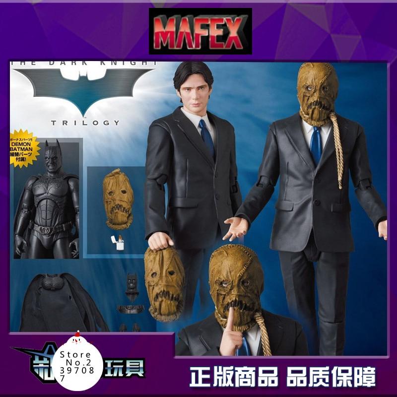 Batman Begins Villain Scarecrow Cillian Murphy Medicom Toy MAFEX 059 DC Doll Birthday Gift Toys Action Figure gown