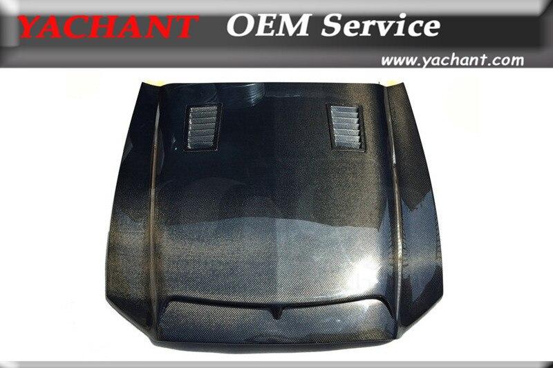 Capot en Fiber de carbone pour voiture 10-14 Mustang Shelby GT500 GT V6 Tru carbone A53KR Style capot de capot d'air Ram